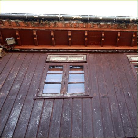 ventana en parez de tablas