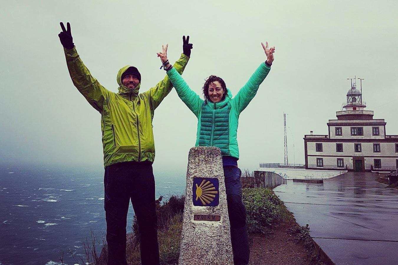 Camino Portugués con lluvia
